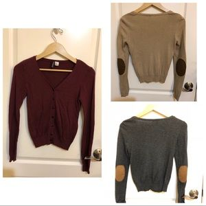 H&M Cardigans with Suede Elbow Pads